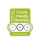 Victorias High Country Cycle Friendly Business Logo